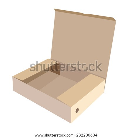 Brown box, cardboard box, software box, carton box, opened box