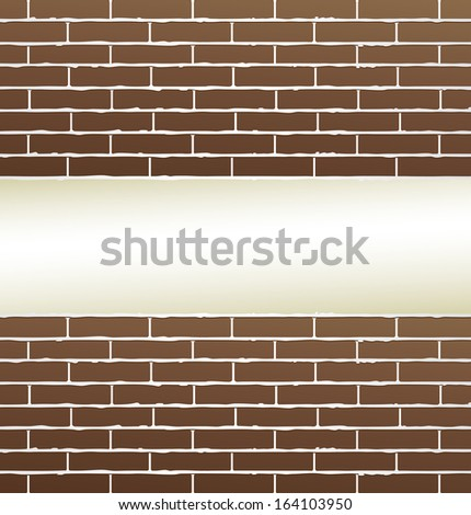 brown brick wall background with blank place for text