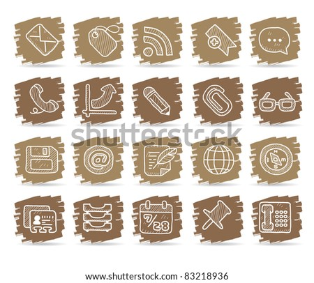 Brown brush series | internet, business , office  icon - stock vector