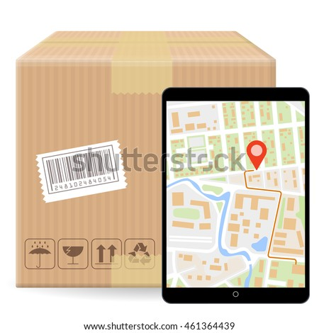 Brown Closed Carton Parcel Packaging Box Stock Vector 461364439 ...