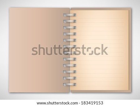Brown Cover Notebook Vector
