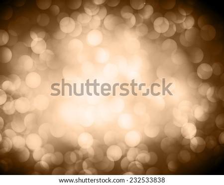 brown Defocused Light, Flickering Lights, Vector abstract festive background with bokeh defocused lights.  - stock vector