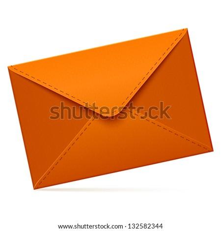 Brown empty vector mail envelope - stock vector