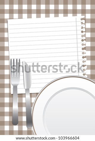 Brown gastronomic background - stock vector