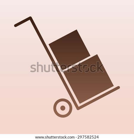 Brown Icons set shipping and delivery  - stock vector