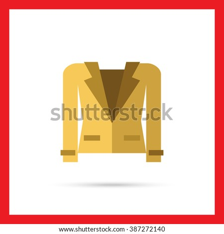 Brown jacket icon - stock vector