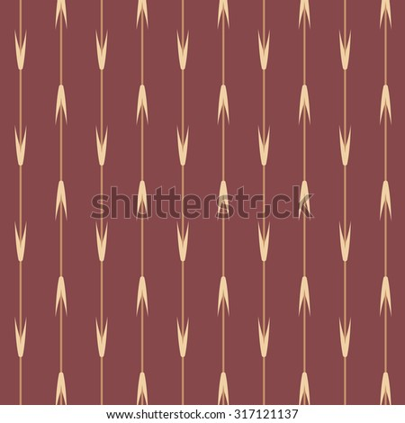 Brown Japanese style wheat leaf stripe pattern