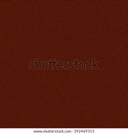 Brown leather background. Vector illustration