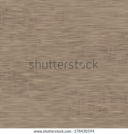 Brown light canvas texture, vector background. Imitation of natural fabric