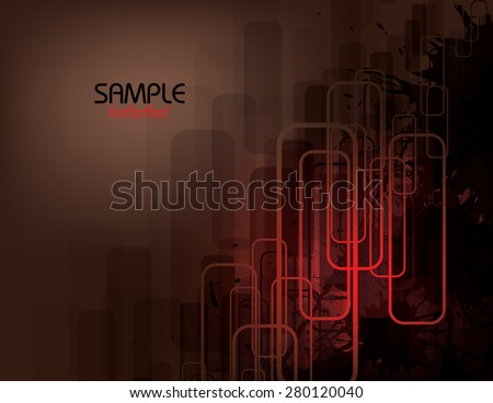 Brown lines Vector Abstract Background. - stock vector