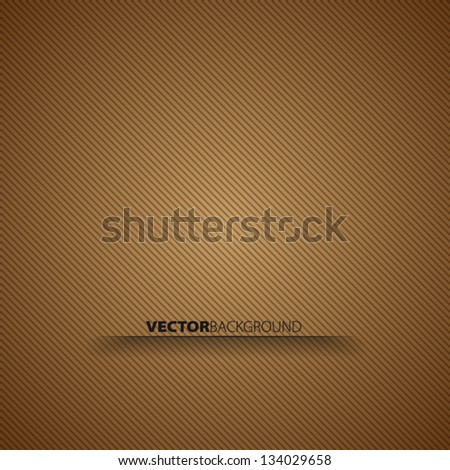 Brown lines vector background - stock vector