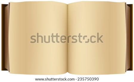 Brown open book. Illustration in vector format