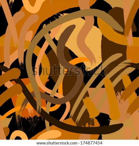 Brown paint splatters seamless pattern.