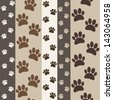 brown paws seamless pattern - stock vector