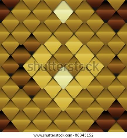 Brown seamless pattern look like lizard skin - stock vector