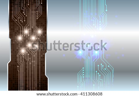 brown silver abstract hi speed internet technology background illustration. eye scan virus computer. motion move. text box. label. card - stock vector