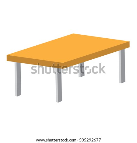 Brown Table Vector Illustration