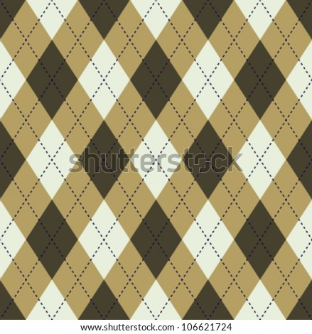 brown tartan - stock vector