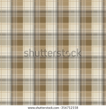 Brown tartan plaid background in vector pattern. Pattern swatches included in file.