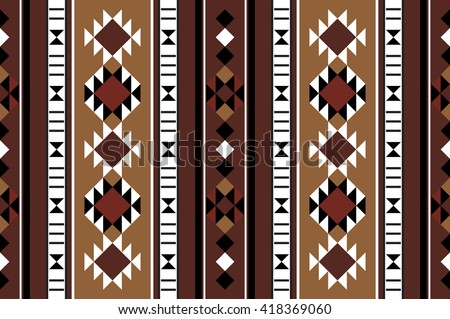 Brown Theme Middle Eastern Rug Pattern From The Arabian Gulf Region - stock vector