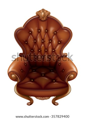 Brown throne
