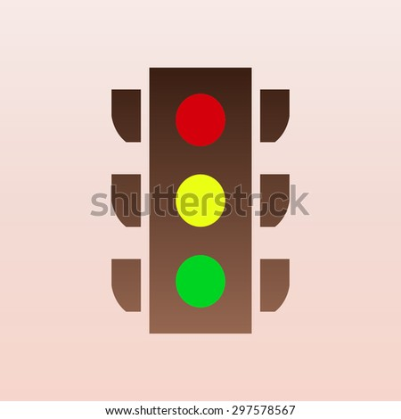 Brown Traffic light signal - Vector icon isolated