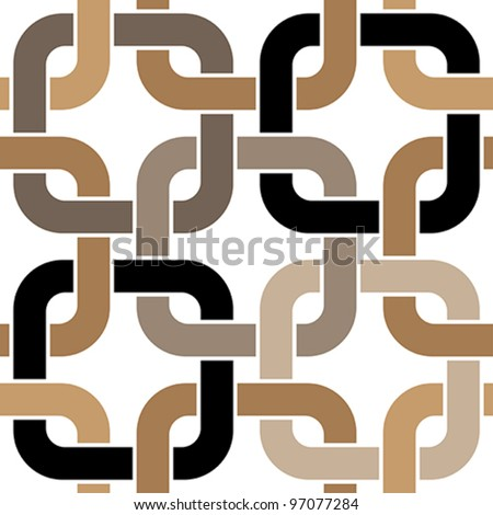 brown twisted rings seamless pattern - stock vector