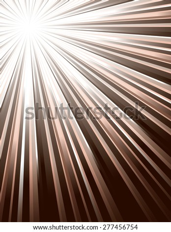 Brown Vector Rays. Abstract Modern Background. - stock vector