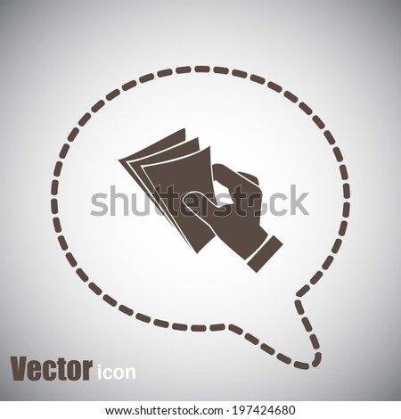 brown web icon on a gray background - stock vector