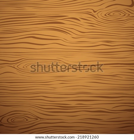 Brown wooden plank, cutting board, floor or table surface. Vector illustration - stock vector