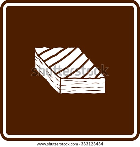 brownie sign - stock vector