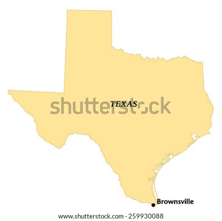 Brownsville, Texas locate map
