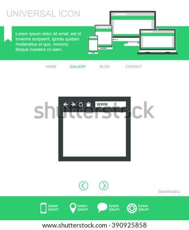Browser window vector icon. - stock vector