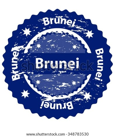 Brunei Country Grunge Stamp - stock vector
