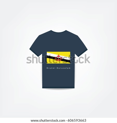 Brunei Darusalam On t-shirt design Using For Business or Personal