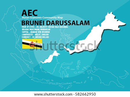 Brunei darussalam world map brunei darussalam stock vector 2018 brunei darussalam world map brunei darussalam are in southeast asia and in aec group gumiabroncs