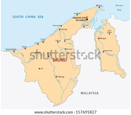 Map Of Brunei Stock Images RoyaltyFree Images Vectors