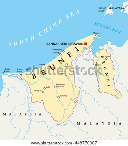 Brunei Map Stock Images RoyaltyFree Images Vectors Shutterstock - Brunei map