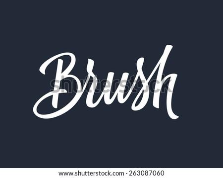 Brush handwritten lettering. Vector illustration - stock vector