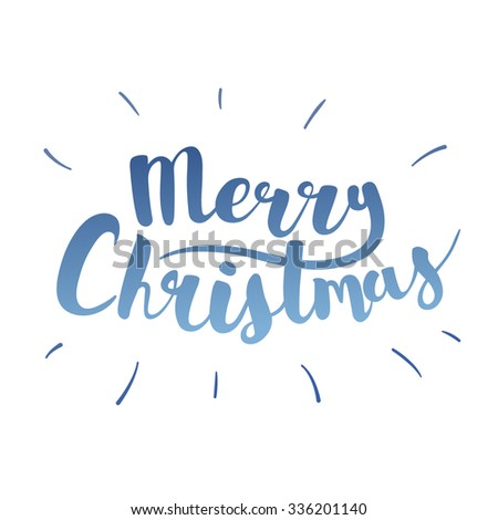 Brush lettering that says Merry Christmas. Vector. - stock vector