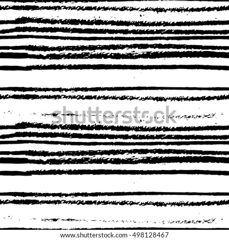 Brush painted striped seamless creative freehand pattern. Textures made with ink. For your designs: logo, for posters, invitations, cards, etc.