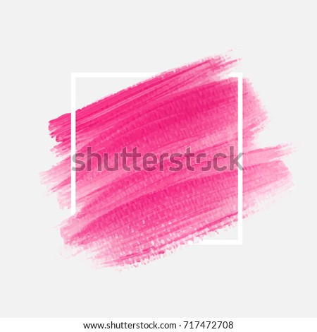 Brush painted textured watercolor abstract background vector illustration. Perfect acrylic design for headline, logo and sale banner.