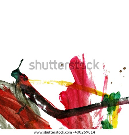 Brush stroke and texture. - stock vector