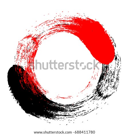Brush stroke and texture, painted element. Underline and border design. Grunge Backgrounds in black and red.