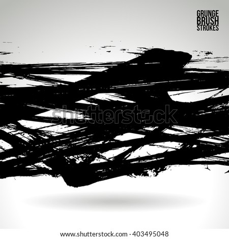 Brush stroke and texture. Vector design. Various colors available - check my profile. - stock vector