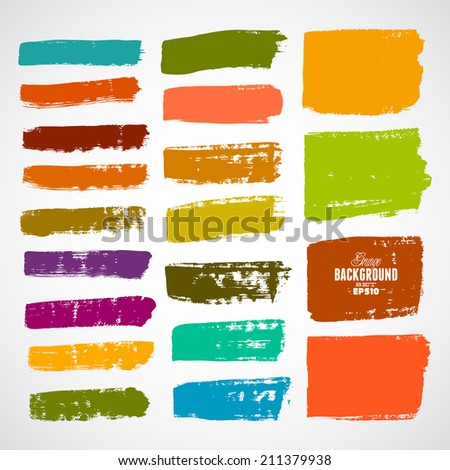 Brush Strokes - Set - Isolated On White Background - Vector Illustration, Graphic Design Editable For Your Design - stock vector