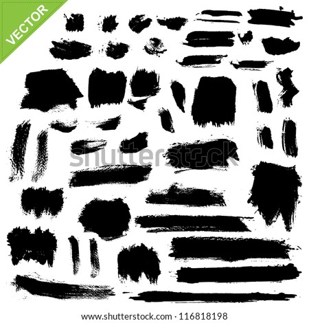 brush strokes vector - stock vector
