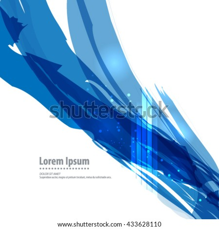 Brush Strokes with Bright Lights Layout/Design Cover Background - stock vector