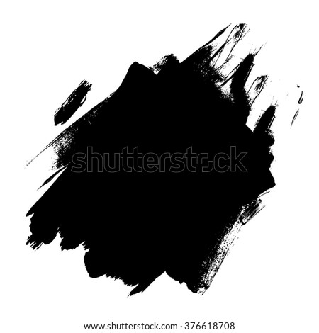 Brush strokes with rough edges. Abstract background. Vector illustration.
