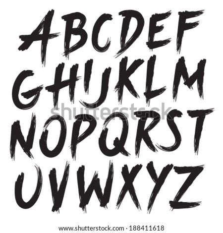 Brushstroke And Free Style Alphabets Lettering Calligraphy